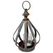 Kerzenhalter mit Henkel - Goldfarben, MODERN, Metall (15.5/26cm)