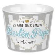 Eierbecher Papa 14 - Weiß/Grau, KONVENTIONELL, Keramik (5,2/4,2cm)