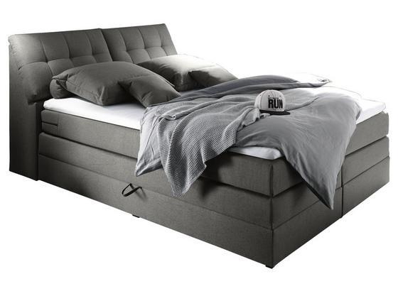 Boxspringbett mit Topper& Bettkasten 180x200cm Space - Hellgrau, KONVENTIONELL, Holzwerkstoff/Textil (180/200cm) - Carryhome