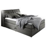 Boxspringbett Space 2 ca. 180x200 cm - Hellgrau, KONVENTIONELL, Holzwerkstoff/Textil (180/200cm) - Carryhome