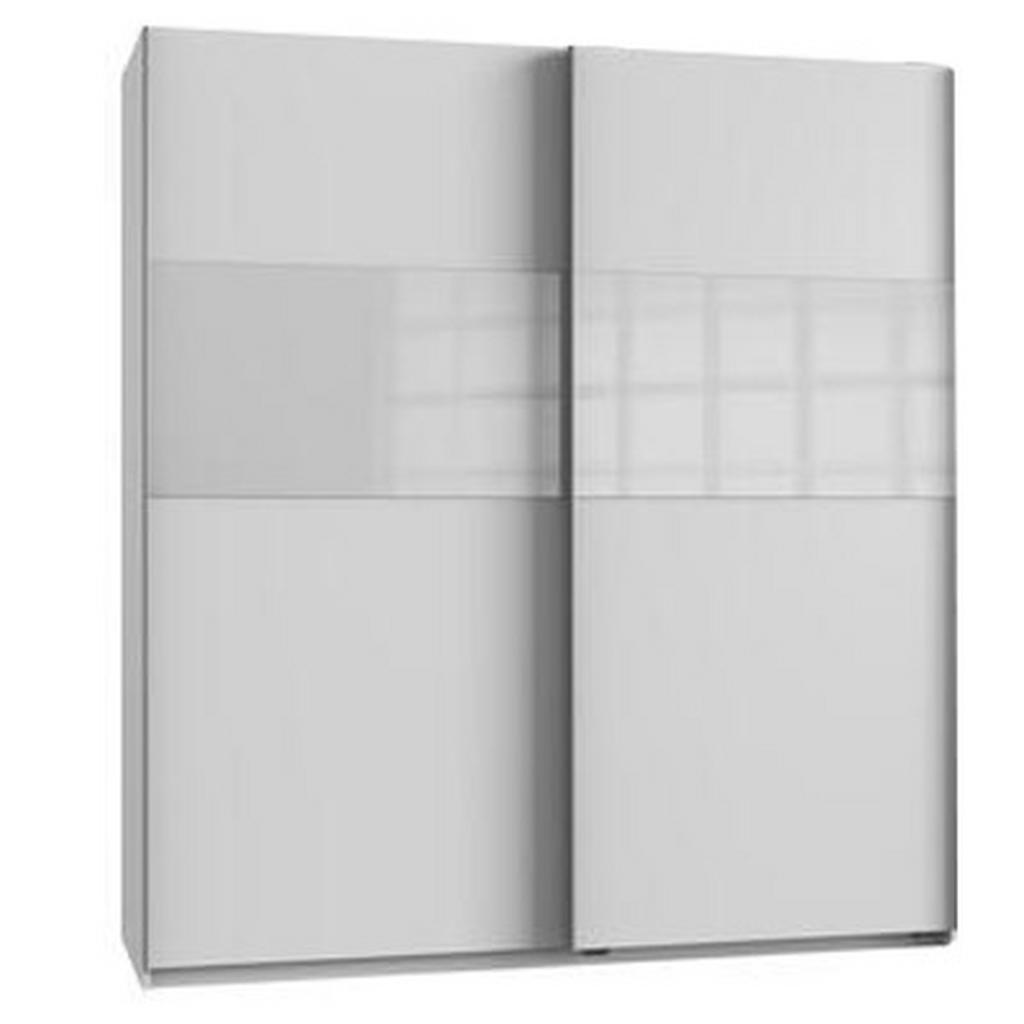 Bramfeld,š/v: 180/200cm Biela/ Sklo Biele