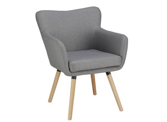 Křeslo Ttristan - světle šedá/barvy buku, Moderní, dřevo/textil (63/83/62cm) - Mömax modern living