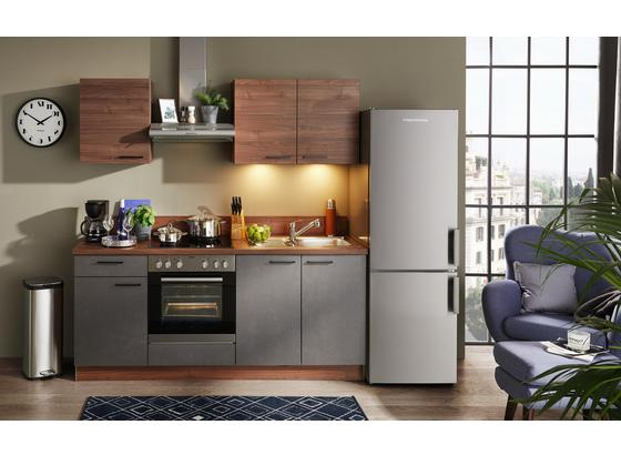 Küchenblock Base/Plan - Nussbaumfarben, Design, Holzwerkstoff (200cm) - Express