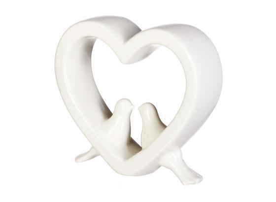 Dekoračný Vták Diana - biela, Romantický / Vidiecky, keramika (10/3/9cm)