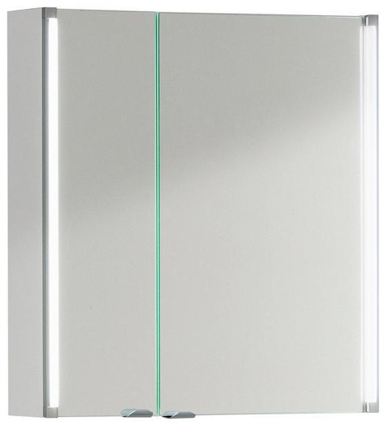 Spiegelschrank LED-Line 61 cm Weiß - Weiß, MODERN, Glas/Holzwerkstoff (61/67/16,5cm)