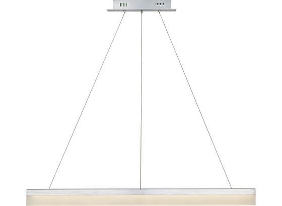 Hängeleuchte Bibiana - Silberfarben/Alufarben, MODERN, Kunststoff/Metall (100/120cm) - Luca Bessoni