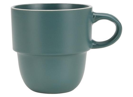 Hrnček Na Kávu Ragnar - zelená, Moderný, keramika (0,36l) - Modern Living