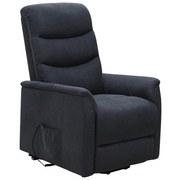 Fernsehsessel Aston B: 72,5 cm - Dunkelgrau/Schwarz, MODERN, Textil/Metall (72,5/110,5/92,5cm) - Ombra
