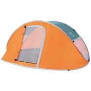 Popupzelt Nucamp X2 mit Moskitonetz 235x145cm 68004 - Orange/Grau, KONVENTIONELL, Kunststoff/Textil (235/145/93cm) - Bestway