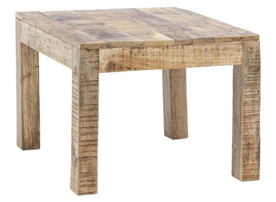 Couchtisch Holz Massiv Rustica Mangoholz B:60cm - Braun, Design, Holz (60/60/47cm) - Livetastic