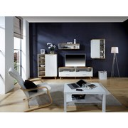 TV-Element Rivoli - Eichefarben/Weiß, MODERN, Holzwerkstoff (160/55/40cm)