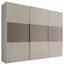 Schwebetürenschrank Includo 280cm Sand/umbra - Sandfarben/Taupe, MODERN, Holzwerkstoff (280/222/68cm)