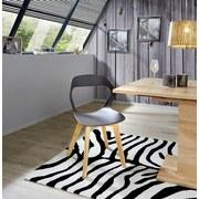 Stuhl Unit Grau - Naturfarben/Grau, MODERN, Holz/Kunststoff (46,5/80/53cm) - Ombra
