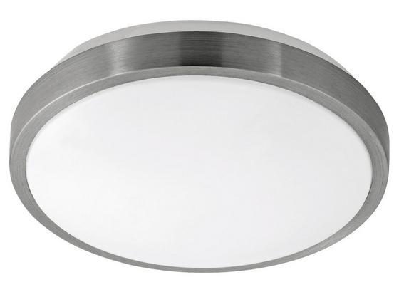 Led Deckenleuchte Competa 1 Ø 24,5 cm - Weiß/Nickelfarben, MODERN, Kunststoff/Metall (24,5/5,5cm)