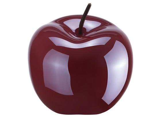 Dekoračné Jablko Sissi - tmavočervená, keramika (9,5/12/0cm)