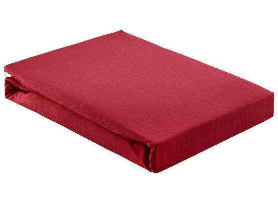 Prostěradlo Napínací Basic - bordeaux, textil (180/200cm) - Mömax modern living