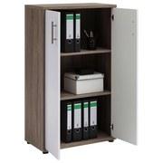 Aktenschrank Serie 1200 2 Türen Trüffel Eiche Dekor - Eichefarben/Weiß, Basics, Holzwerkstoff (65,1/110,9/34,5cm) - MID.YOU
