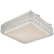 LED-Deckenleuchte Abigail - Weiß, KONVENTIONELL, Kunststoff (28/28/9cm) - JAMES WOOD