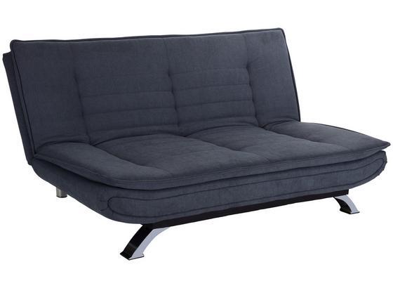 Schlafsofa Bari B: 190 cm Grau - Edelstahlfarben/Grau, Basics, Textil/Metall (190/90/102cm) - Ombra