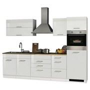 Küchenblock Mailand B: 290 cm Weiß - Eichefarben/Weiß, Basics, Holzwerkstoff (290/200/60cm) - MID.YOU