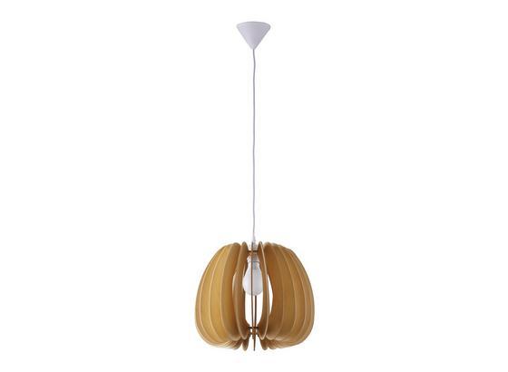 Závesná Lampa Simona - prírodné farby/béžová, Moderný, drevo (37/140cm) - Modern Living