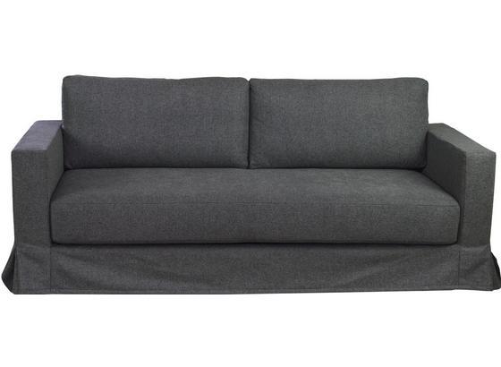 Dreisitzer-Sofa Thomas B: 208 cm Grau - Grau, Basics, Textil (208/90/94cm)