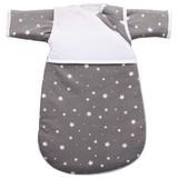 Erstlingsschlafsack 55cm - Weiß/Grau, MODERN, Kunststoff/Textil (55cm) - FILLIKID