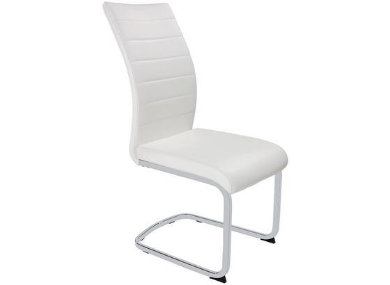 Schwingstuhl Dalia S - Chromfarben/Weiß, KONVENTIONELL, Textil/Metall (43/98/60cm)