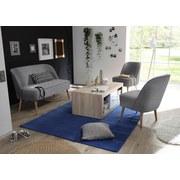 Sessel Pino Es B: ca. 54 cm - Kieferfarben/Grau, Trend, Holzwerkstoff/Textil (54/83/66cm) - Carryhome