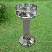Holzkohlegrill Cena B: 43 cm Silberfarben - Silberfarben, Basics, Metall (43/85/43cm) - Ambia Garden