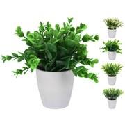 Dekopflanze Cathy - Weiß/Grün, LIFESTYLE, Kunststoff (13/16cm)