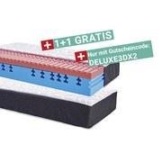 Komfortschaum-Matratze 3D Deluxe 90x200cm H2 - Weiß, KONVENTIONELL, Textil (90/200cm) - Primatex Deluxe