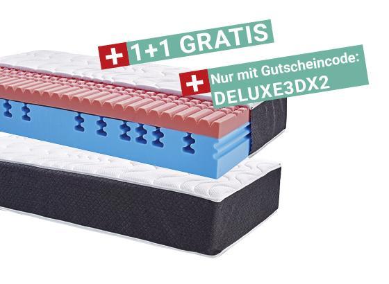 Komfortschaummatratze 3D Deluxe 90x200 - Weiß, KONVENTIONELL, Textil (90/200cm) - Primatex Deluxe