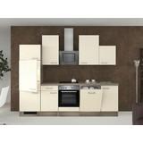 Küchenblock Eico 280cm Magnolie - Edelstahlfarben/Eichefarben, MODERN, Holzwerkstoff (280cm) - MID.YOU