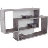 Nástenný Regál Dream - sivá/biela, Moderný, kompozitné drevo (90/48/16cm)
