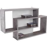 Regál Nástěnný Dream - bílá/šedá, Moderní, kompozitní dřevo (90/48/16cm)