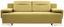 Schlafsofa Memphis - Currygelb/Chromfarben, MODERN, Textil (222/83/90cm)