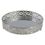 Dekotablett Selina - Silberfarben, MODERN, Glas/Metall (25/5cm) - Luca Bessoni
