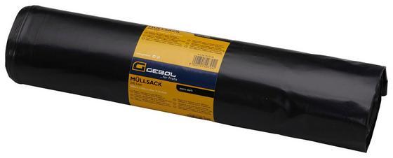 Müllsack 240 L - 10 Stück - Schwarz, KONVENTIONELL, Kunststoff (240l) - Gebol