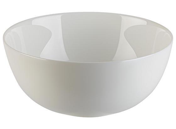 Mísa Na Salát Alexis - bílá, Romantický / Rustikální, sklo (21/9,3cm) - Mömax modern living