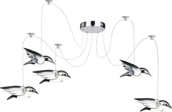 LED-Deckenleuchte Vogel - Chromfarben, MODERN, Kunststoff/Metall (20cm)