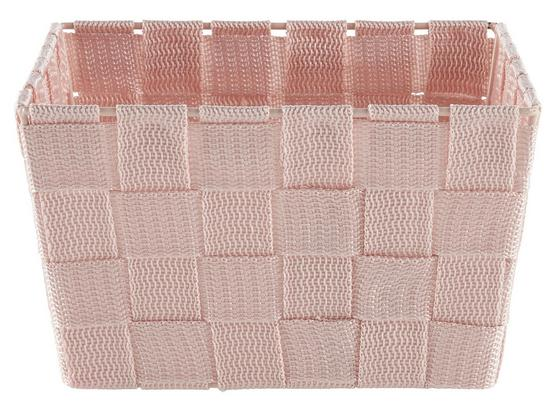 Košík Nelly - ružová, Moderný, umelá hmota (19/19/11cm)