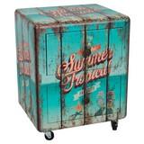 Kommode Summer Tropical B: 40 cm - Multicolor/Schwarz, Basics, Holzwerkstoff (40/51/33cm)