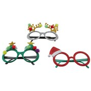 Brille Funny X-mas - Rot/Silberfarben, LIFESTYLE, Kunststoff