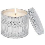 Kerze Im Glas Tiffany - Silberfarben/Weiß, MODERN, Glas (10,5/10cm) - Luca Bessoni