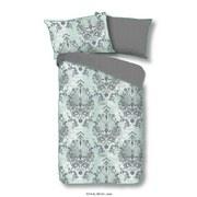 Bettwäsche Beau 140/200cm Grau/Mint - Grau/Mintgrün, Basics, Textil