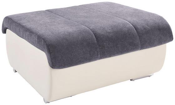 Taburet Multi - šedá/krémová, Moderní, textilie (100/43/80cm)