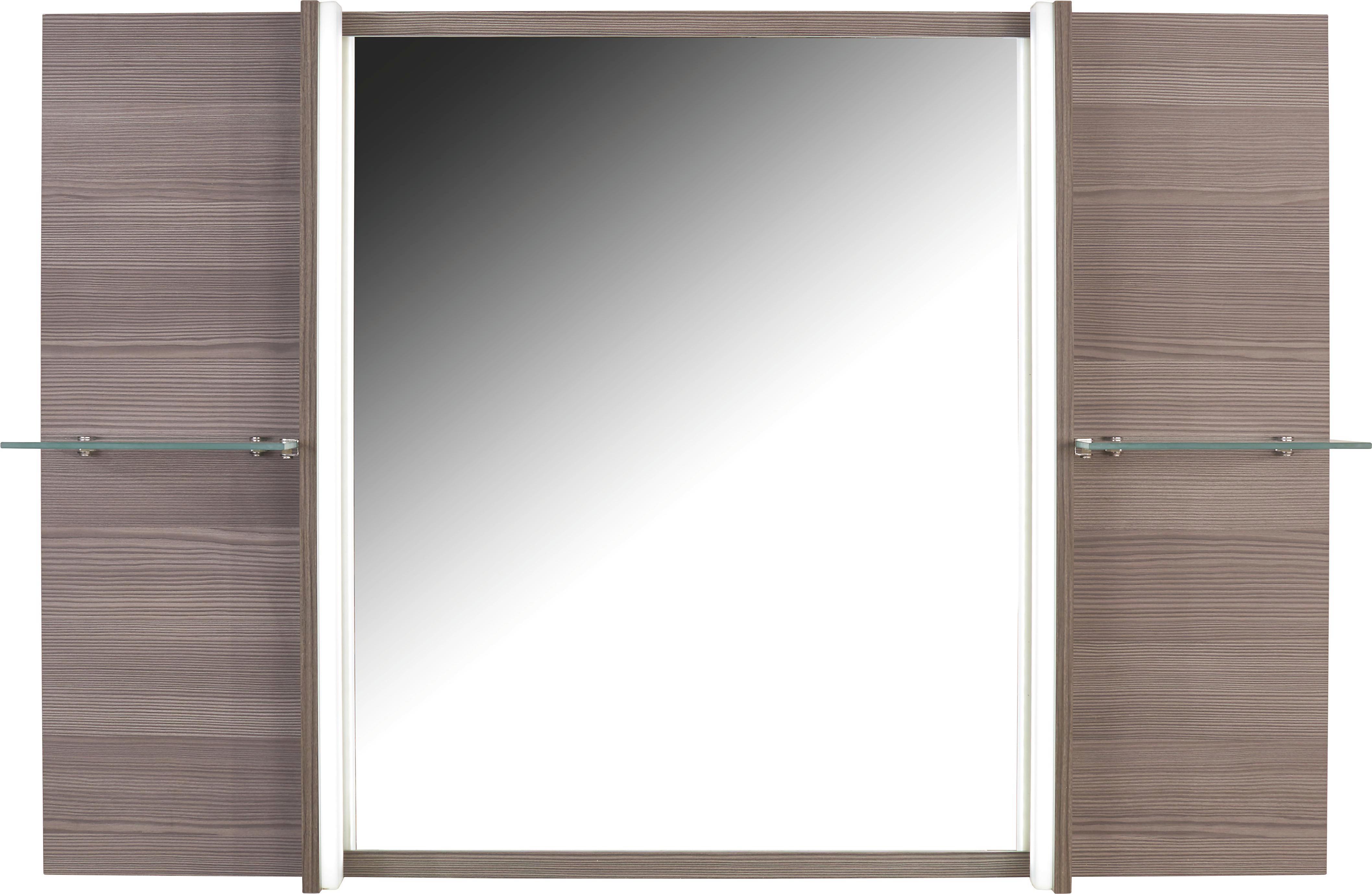Tükör Avensis - bronz szín, modern, üveg/faanyagok (120/80/17cm) - LUCA BESSONI
