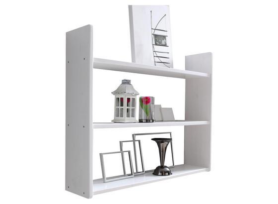 Wandregal Mona B: 90 cm Weiß - Weiß, Basics, Holz (90/74/20cm) - Livetastic
