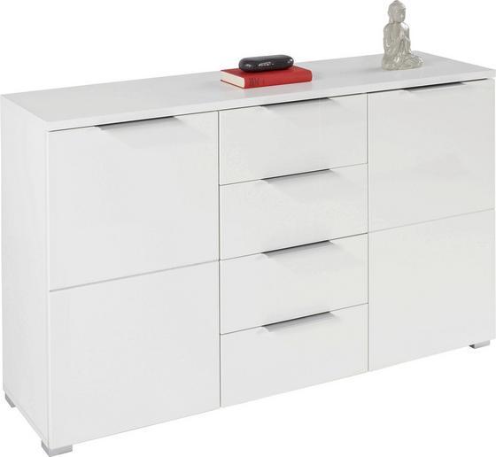 Kommode Chris 2d 4s - Weiß, MODERN, Holzwerkstoff (135/81.8/38cm)